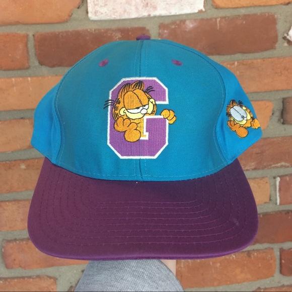 Accessories - Vintage 90a Garfield SnapBack 2a9dfa8985dc